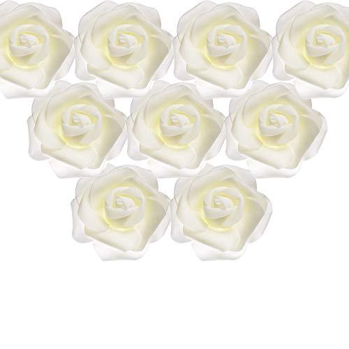 50 Stück 7 cm / 2,7 Zoll, Rosenblüten Foamrosen, Künstliche Schaumstoff Rosenköpfe, Schaumrosen Künstliche Blumen Rosenköpfe, Schaum Rosen Blütenköpfe Künstliche Rose Blumenkopf, Party, Dekor, Tisch