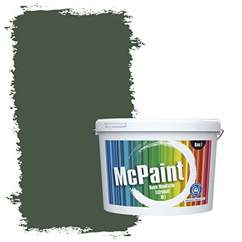 McPaint Bunte Wandfarbe extramatt für Innen Dunkelgrün 5 Liter - Weitere Grüne Farbtöne Erhältlich - Weitere Größen Verfügbar