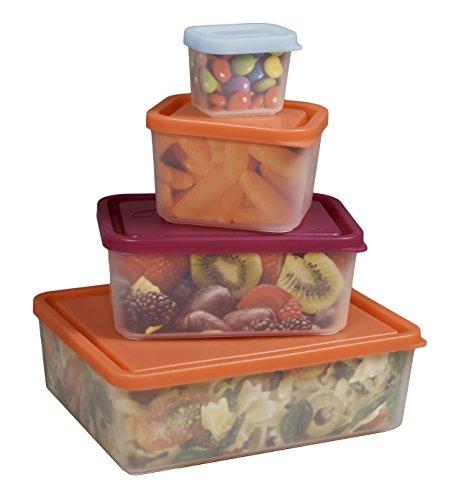 Bentology Auslaufsichere Lunch-Behälter, BPA-frei, hergestellt in den USA, Portionskontrolle, 4 Stück