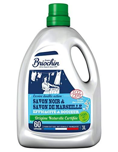 Briochin Lessive Savon Noir Et Savon De Marseille Origine Naturelle 3L (Lot de 2)