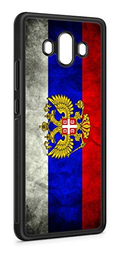 Kompatibel mit Huawei Mate 20 Lite Silikon Handyhülle Flexibles Slim Case Cover Russland Fahne Flagge Schwarz