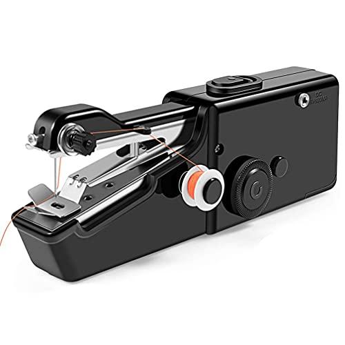 Máquina De Coser De Mano,Mini Máquina De Coser Portátil Máquina De Coser para Principiantes Máquina De Coser Inalámbrica Manual para Reparación Rápida De Ropa De Tela,Negro