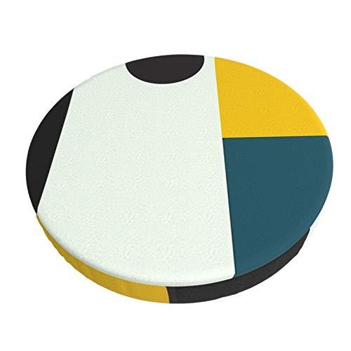 Fedso Runde Barstuhl-Kissenbezug, atmungsaktiv, waschbar, Hocker-Bezug, für Bauhaus, Alter Barhocker, Sitzbezüge, elastischer Hocker, 33 cm