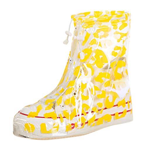 Unisex Schuhschutz Transparente wasserdichte schuheüberzieher rutschfeste Wiederverwendbare Regenstiefel PVC-Silikon-Regen Schnee-wasserdichte Kunststoff-Überschuhe