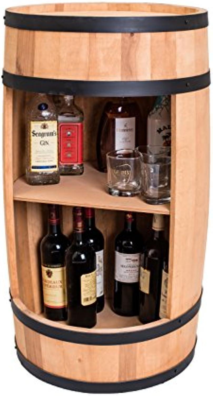 WEECO Fass Weinregal 81cm, Design Hausbar - Weinschrank aus Holz, Weinstnder