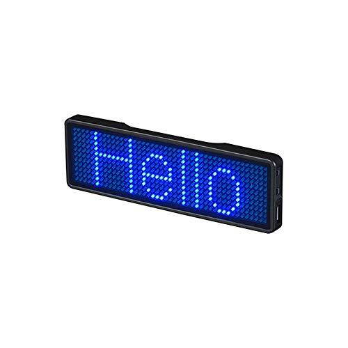 MidoriMori Bluetooth-LED-Namensschild Verbesserte kabellose Bluetooth-LED-Namensschild Wiederaufladbare Namensschild Karte mit Magnet/Pin für die Party Bar-Ausstellung im Hotel...