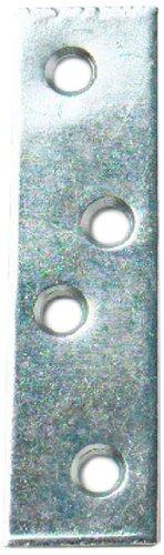 Bulk Hardware BH01141 100 mm Verzinkt Gerade Reparaturbleche (Packung à 10), Weiß, Stück