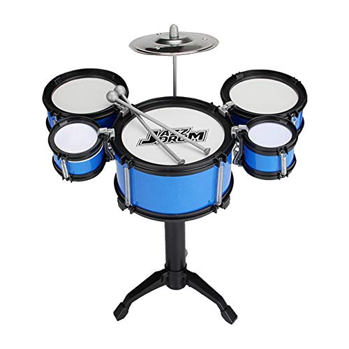 Eternitry Kids Drum Kit Jazz Drums Play Set Niños Educación temprana Instrumentos Musicales Batería Set Rhythm Music Band Juguete Percusión Playset Taburete