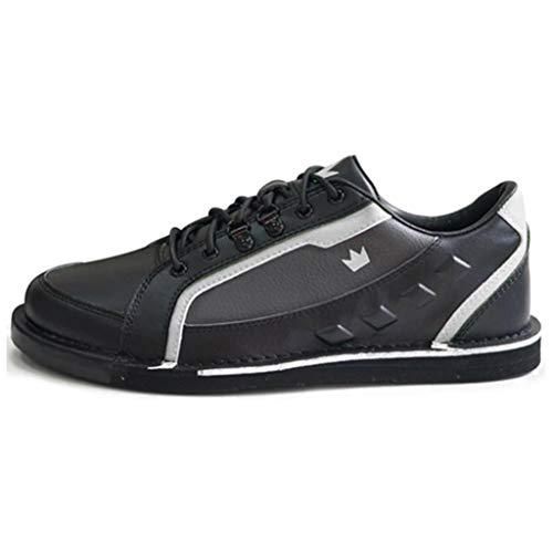Brunswick Punisher Bowling-Schuhe für Herren, rechte Hand, Schwarz/Silber, Größe 41