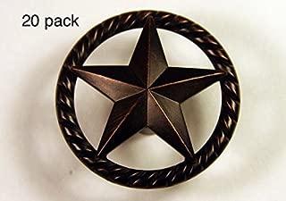 RAISED STAR KNOB ORB WESTERN CABINET HARDWARE DRAWER PULLS TEXAS STAR KNOBS (20)