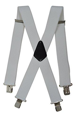 Olata Bretelles XXL entièrement réglable Extra Fort avec 4 Clips, Tissu épais - 5cm