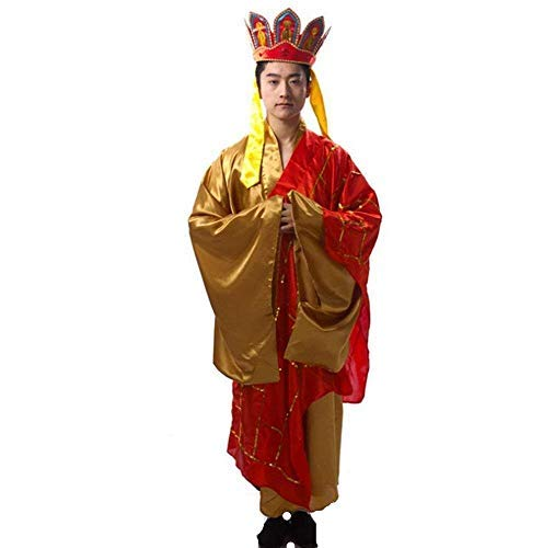MostaShow Chinese Story Journey to The West Person Performance Costume Clothes Monkey King's/Pigsy/Shahe Shang/Tang Monk/Stage Performance Clothing (Tang Monk)