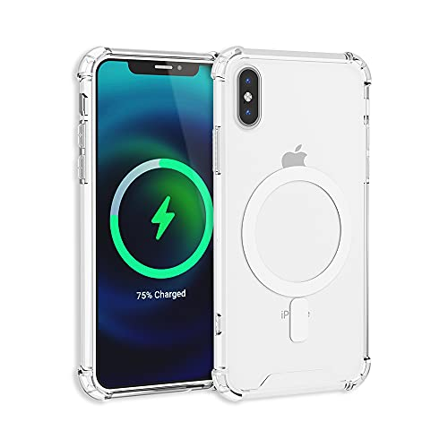 TORU MX SLIM Compatible with iPhone Xs Case, iPhone X Clear Case - Transparent Protective Soft Bumper & Anti-Yellowing Hard Cover with Wrist Strap Designed for MagSafe Magnetic Charger - Crystal Clear