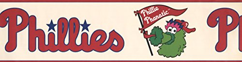 6 in x 15 ft Prepasted Wallpaper Borders - Phillie Phanatic Sports Wall Paper Border 3305 ZB