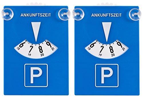 DIYexpert 2er Pack Parkscheibe Kunststoff mit Saugnäpfen