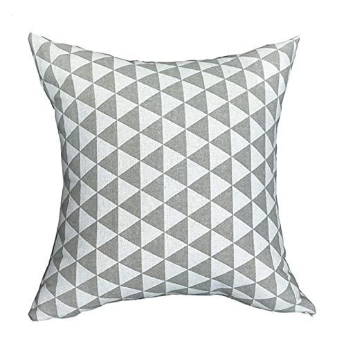 DLYWLCC 4 fundas de almohada de lino nórdico para sofá o sofá, funda de almohada para decoración del hogar