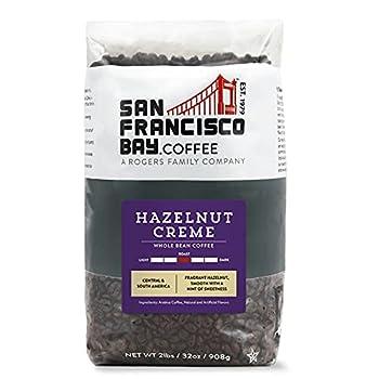SF Bay Coffee Hazelnut Crème Whole Bean 2LB  32 Ounce  Flavored Medium Roast