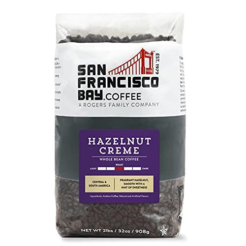 SF Bay Coffee Hazelnut Crème Whole Bean 2LB (32 Ounce) Flavored Medium Roast