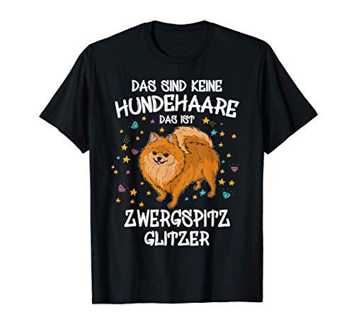 Zwergspitz Glitzer Hundeliebhaber Hundehalter Geschenk Hunde T-Shirt