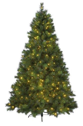 Kaemingk, Albero di Natale a LED Vancouver per Uso Interno, 180 cm, Luce Bianca Calda 678271 180 cm-360 L Warm Weiß, Verde (Grün)