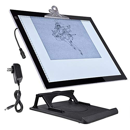"""Yescom A3 LED Tracing Light Box with Stand 19""""x14"""" LED Tracing Light Pad for Artists Drawing Sketching Tattoo Animation Diamond Painting"""