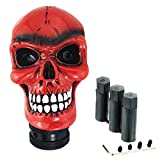 Abfer Red Stick Shifter Car Gear Shift Knob Skull Shifting Head Replace for Most Automatic Manual Truck Vehicles