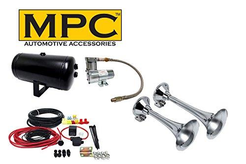 MPC Dual Air Horns Loud Locomotive Train Horns Complete Kit