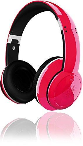 Icy Box BigCity Vibes IB-HPh2-R On-Ear Kopfhörer mit Active Noise-Cancelling, zusammenklappbar, gepolstert, 3,5 mm Stecker, viel Zubehör, rot