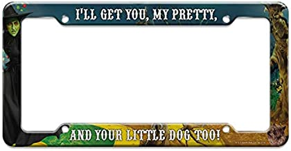 Graphics and More Wizard of Oz Wicked Witch Character License Plate Clear Frame