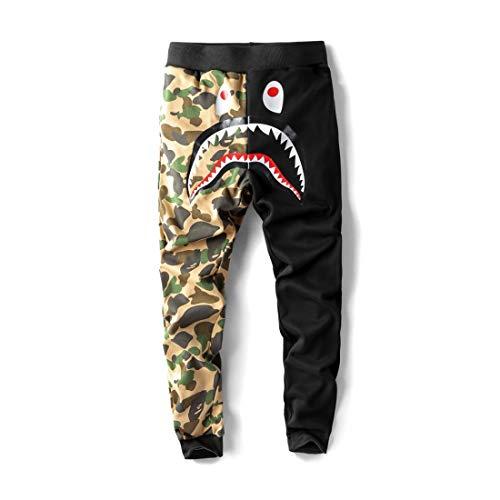 Big Mouth Shark Ape Bape Camo Herren Freizeit Sport Hose Fashion Jogger Shorts -  -  Mittel