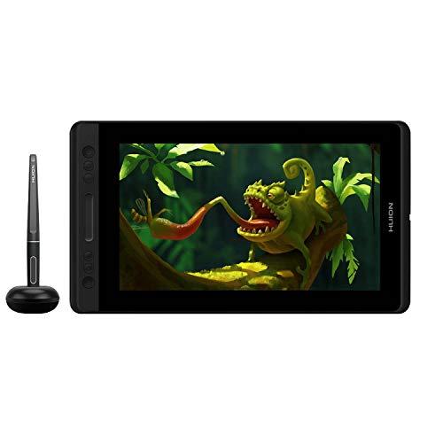 HUION KAMVAS Pro 12 HD 11.6 Tableta con Monitor Soporte de función de inclinación lápiz sin batería con 8192 Niveles de presión y 4 Teclas Express 1 Barra táctil Tableta gráfica con Pantalla