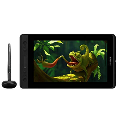 HUION KAMVAS Pro 12 HD 11.6 Drawing Tablet with Screen Tilt function support Battery-free PW507 with 8192 Pressure levels and 4 Express keys 1 Touch bar Graphic Tablet Pen Display
