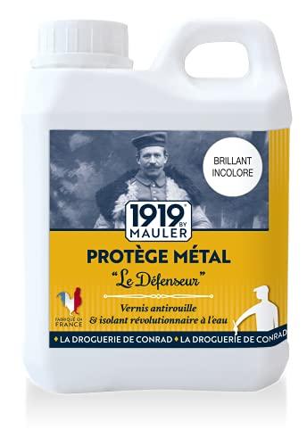 Vernis métal antirouille incolore - 'Le défenseur' Brillant 500ml - 1919 BY MAULER
