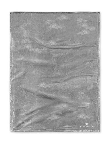 TOM TAILOR 0237798 Wohndecke Microfaser 1x 150x200 cm, hellgrau