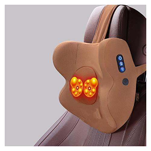 Almohada de masaje eléctrico de automóviles adecuado para la mayoría de los coches | Reposacabezas del respaldo del asiento | Cojín de soporte de cintura | Silla de oficina Almohada de cuello | Auto A