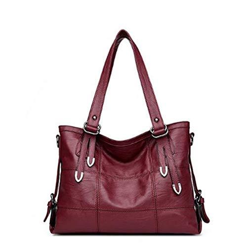 Poopy Damen Einzigartiges Design Metalldekoration Schulter Tote Handtaschen Crossbody Top-Griff Taschen