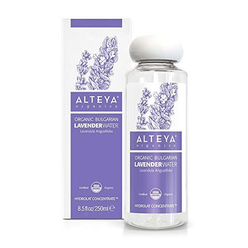 Alteya Bio Lavendelwasser 250ml – 100% USDA Organic-zertifiziert Authentisch Rein Natürlich - wasserdampfdestilliertes Blütenwasser, Direktverkauf vom Lavendelanbauer Alteya Organics