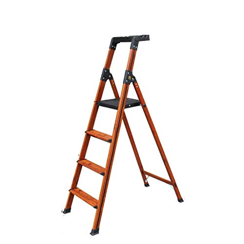 Binnen Trappen, Three-step ladder in vier stappen ladder Non-slip Metal Ladder Slaapkamer Bookshelf Dual-purpose Ladder Tool Box Design (Maat: 51 * 92 * 139.5cm) XIUYU