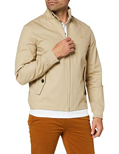 Farah Vintage Herren Hardy Harrington Jacke, Beige (Light Sand 285), Medium