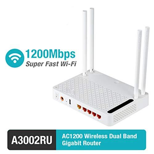 XIANG WiFi Router Für Breitband, Wireless LAN Router A3002RU AC1200 Wireless Dualband Gigabit Router Mit USB-Anschluss Wireless Router