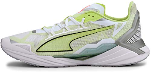 PUMA Ultraride, Zapatillas para Correr de Carretera Hombre, Blanco White/Fizzy Amarillo, 48.5 EU
