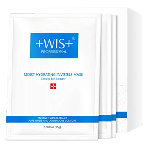 WIS Intensive Hydrating Facial Mask Smoothing Face Sheet Mask 24 Pack, Deep Moisturizing with Hyaluronic Acid, Oil Control, Shrink Pores Firming Anti-aging with Collagen, Gifts for Women and Men