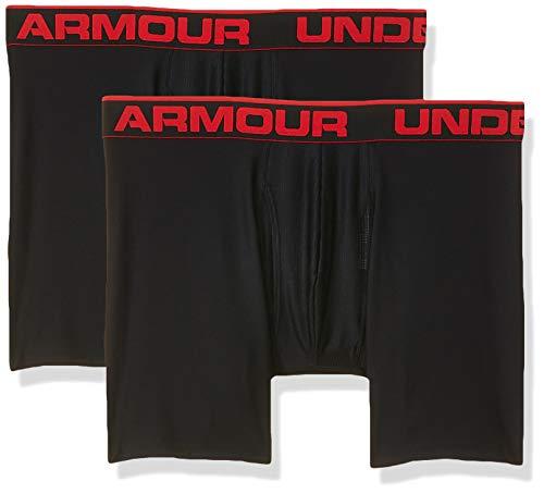 "Under Armour Men's Original Series 6"" Boxerjock 2 PK, Ropa interior para hombre, Varios colores (Black), M"