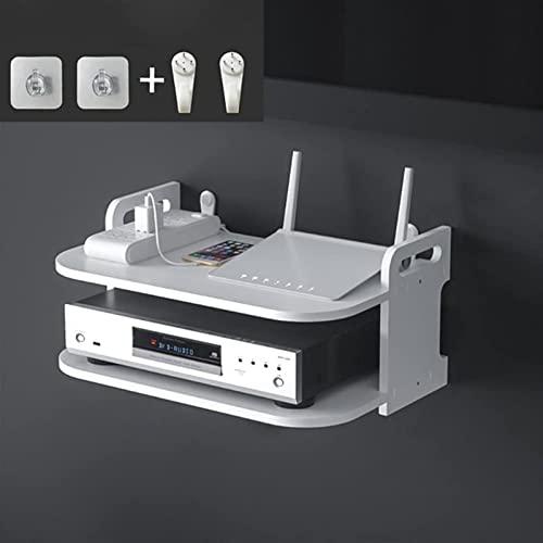 Wzglod Montaje En Pared WiFi Router Boxes/TV Set-Top-Top/DVD Player Soporte/Teléfono Soporte De Estantería Soporte