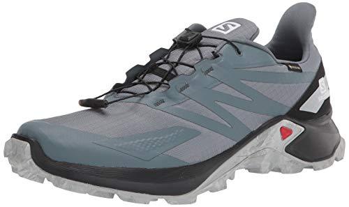 SALOMON Calzado Bajo Supercross Blast GTX, Zapatillas de Trail Running Hombre, StoWea, 43 1/3 EU