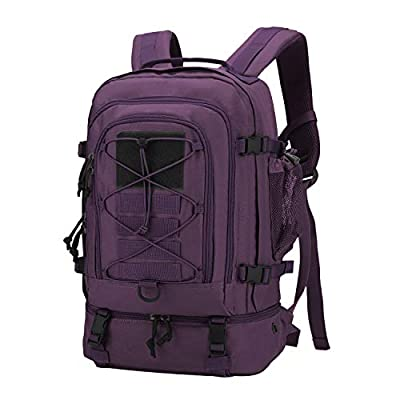 Mardingtop 28L Tactical Backpacks Molle Hiking daypacks for Motorcycle Camping Hiking Military Traveling 28L-Purple