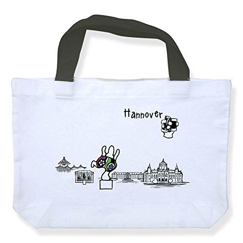 Einkaufstasche Skyline Hannover - als Geschenk für Hannoveraner & Fans der Niedersachsenmetropole oder als Hannover Souvenir - die stadtmeister
