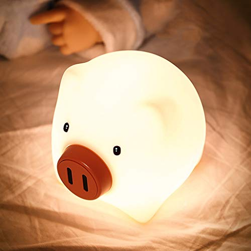 Lámpara de Cabecera Nursery LED Luces de la noche for niños: los regalos del bebé, Lumipets lindo silicona Baby Animal luz de noche - portátil y recargable regular lámparas En las recámaras Lámparas d