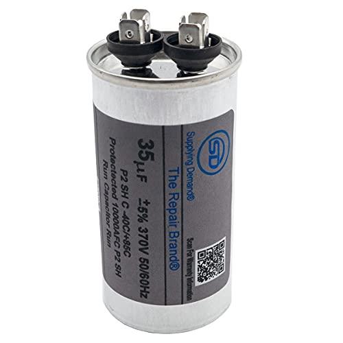 Supplying Demand 370V 370 Volt HVAC 35 MFD Run Capacitor Round 35µF Rated -40°F to 185°F Universal Compatibility CR35X370R