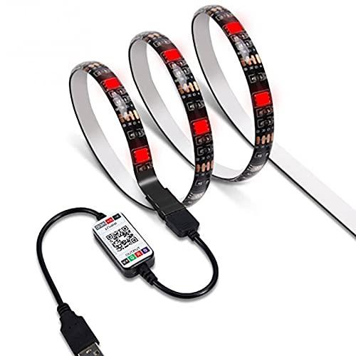 Zay Luay Luces 5050 RGB LED Luz de Tira 5V USB Luces Luces de Tira Flexibles Inteligentes App Control (Color : 2M)